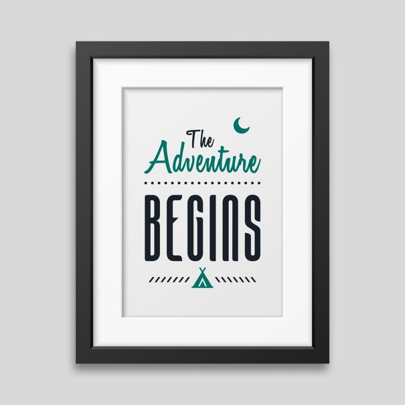 Affiche encadrée The adventure begins